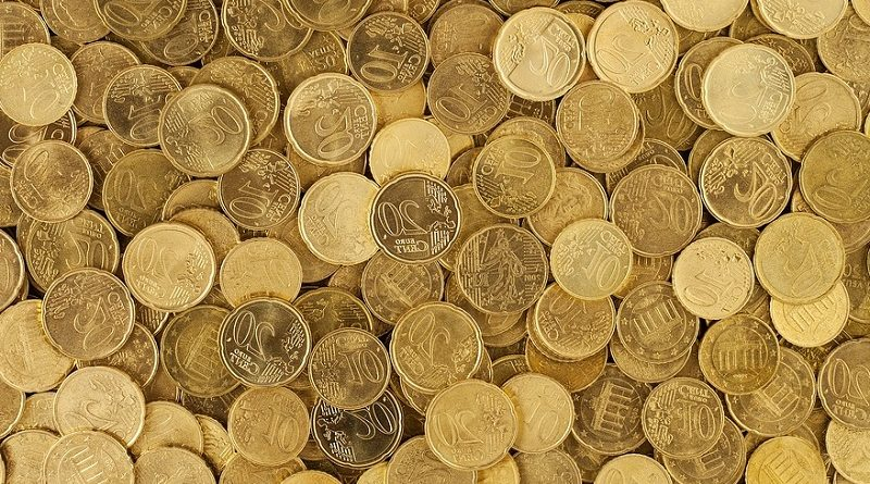 Ein haufen Euro-Münzen