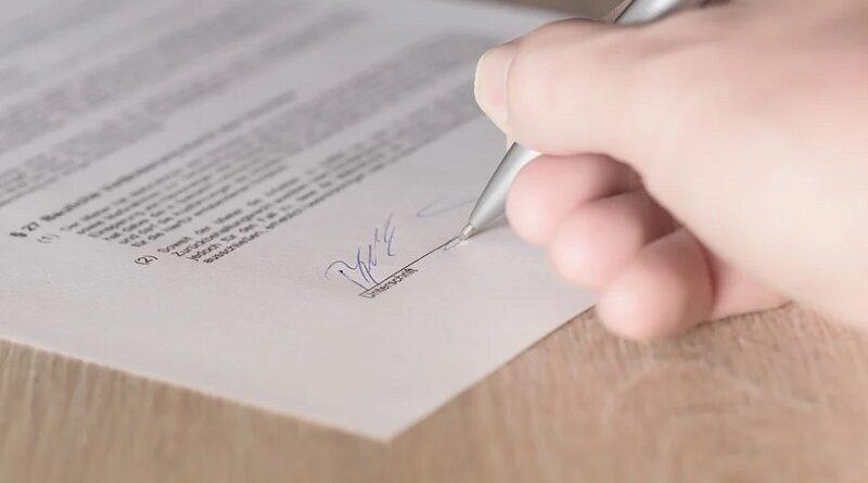 Unterschrift Leasing